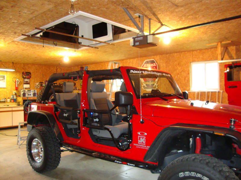 Finally Got My Hard Top Hoist Done Jeep Jk Jeep Tops Jeep Doors