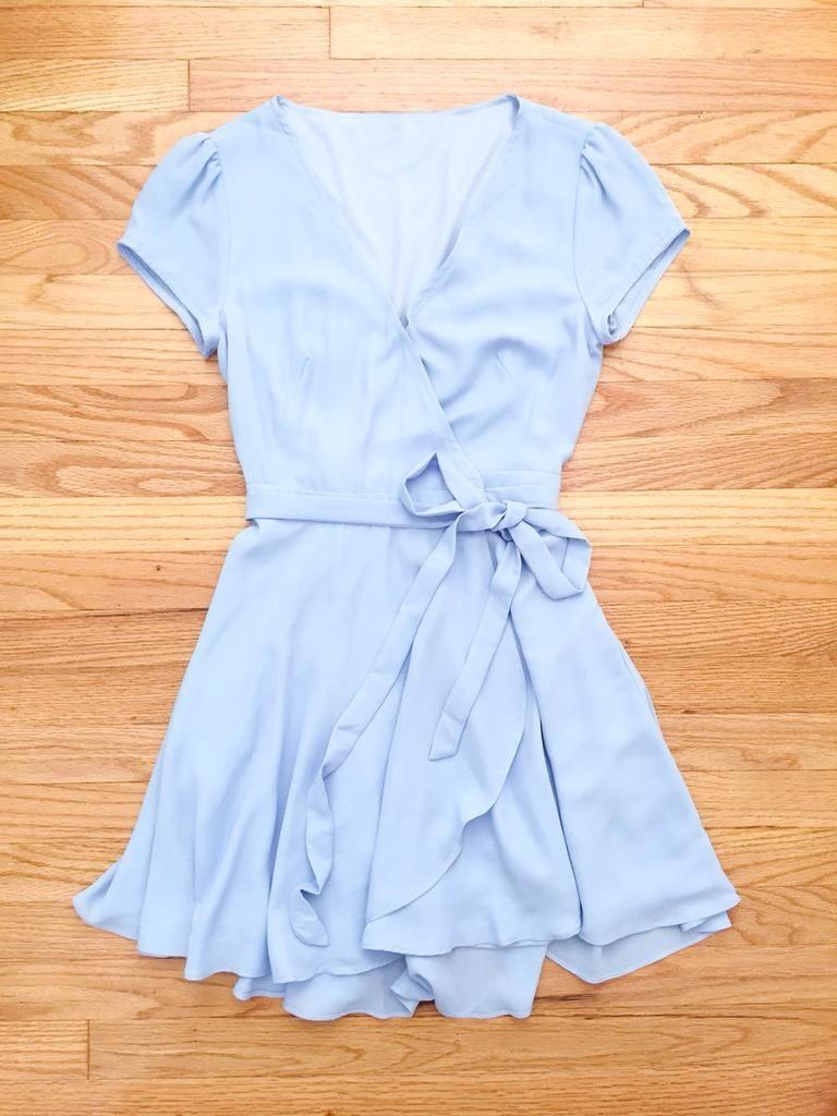 5ccf49cbfdf2 Clothing · Blue Summer Swing Party Dress