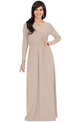 70e22222a3599 KOH KOH Womens Long Sleeve Modest Flowy Summer Sexy Gown Cocktail Winter  Fall Pleated Designer Office
