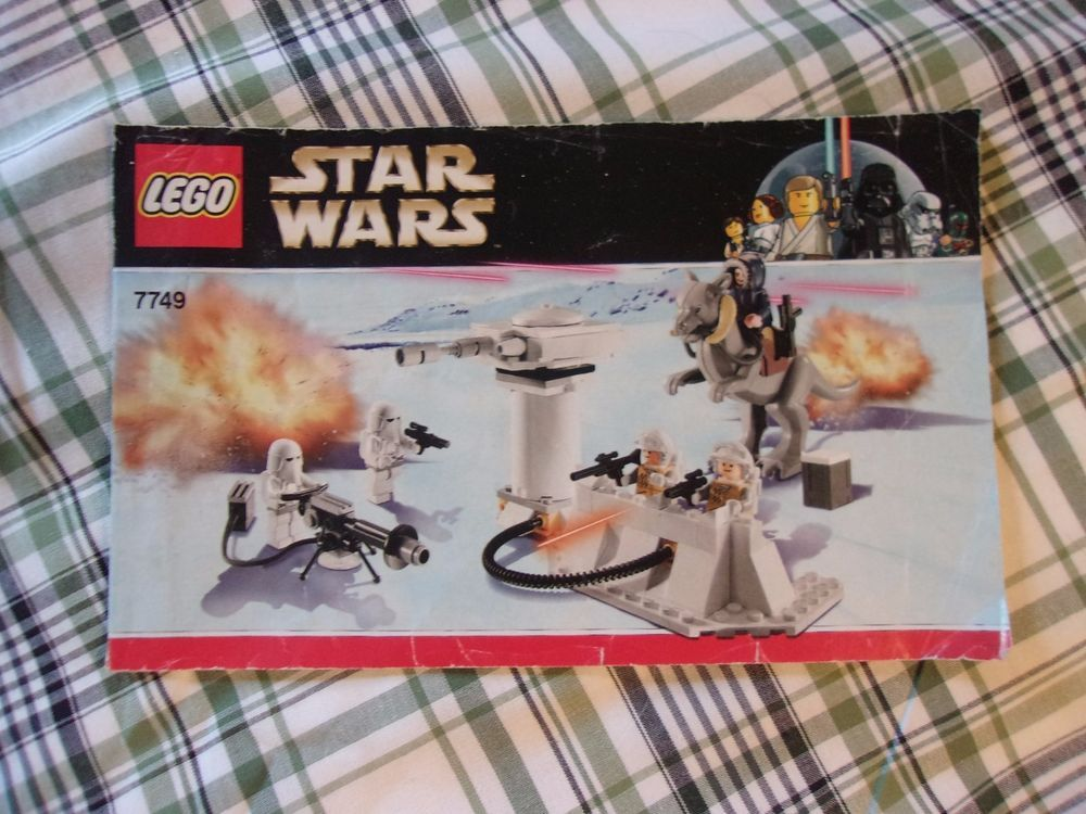 Lego Star Wars 7749 Echo Base Instruction Manual Only Good Clean