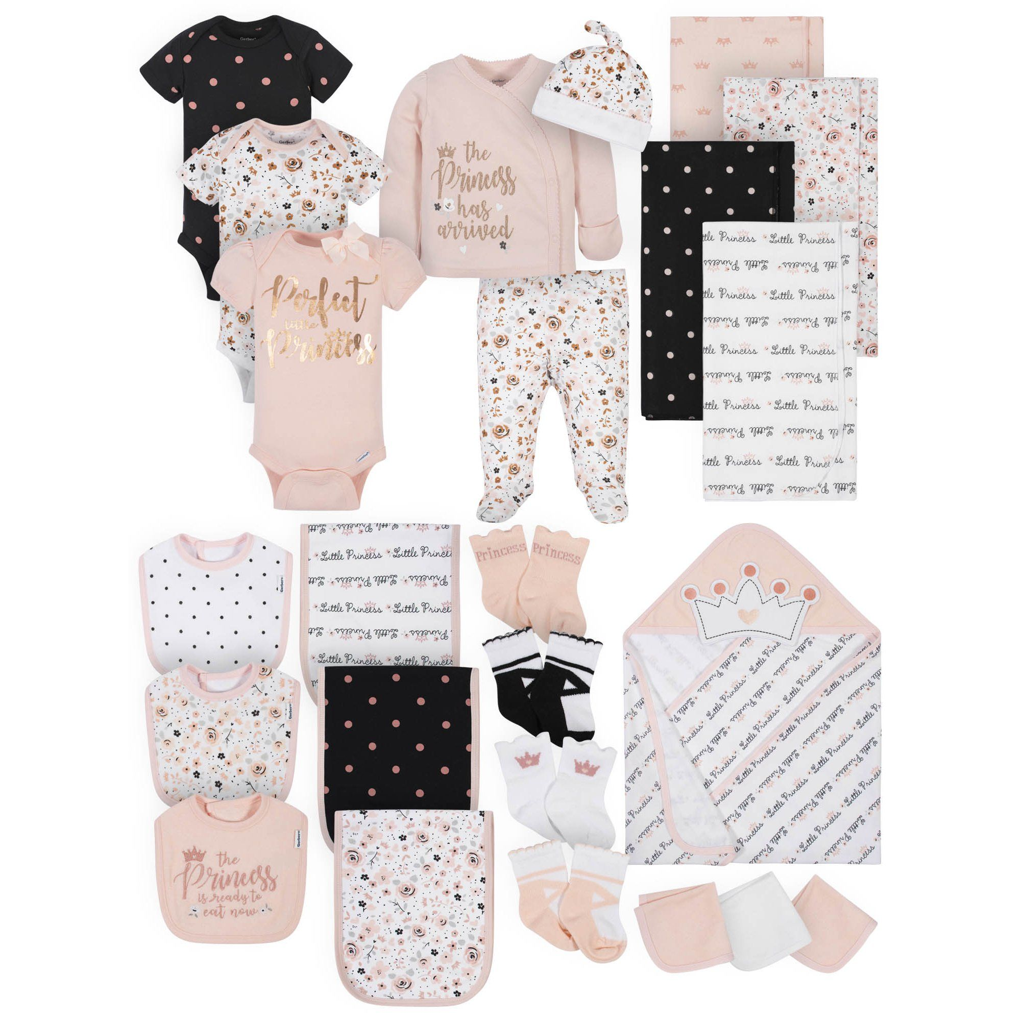 Gerber - Gerber Baby Girl Organic Newborn Clothes Essentials