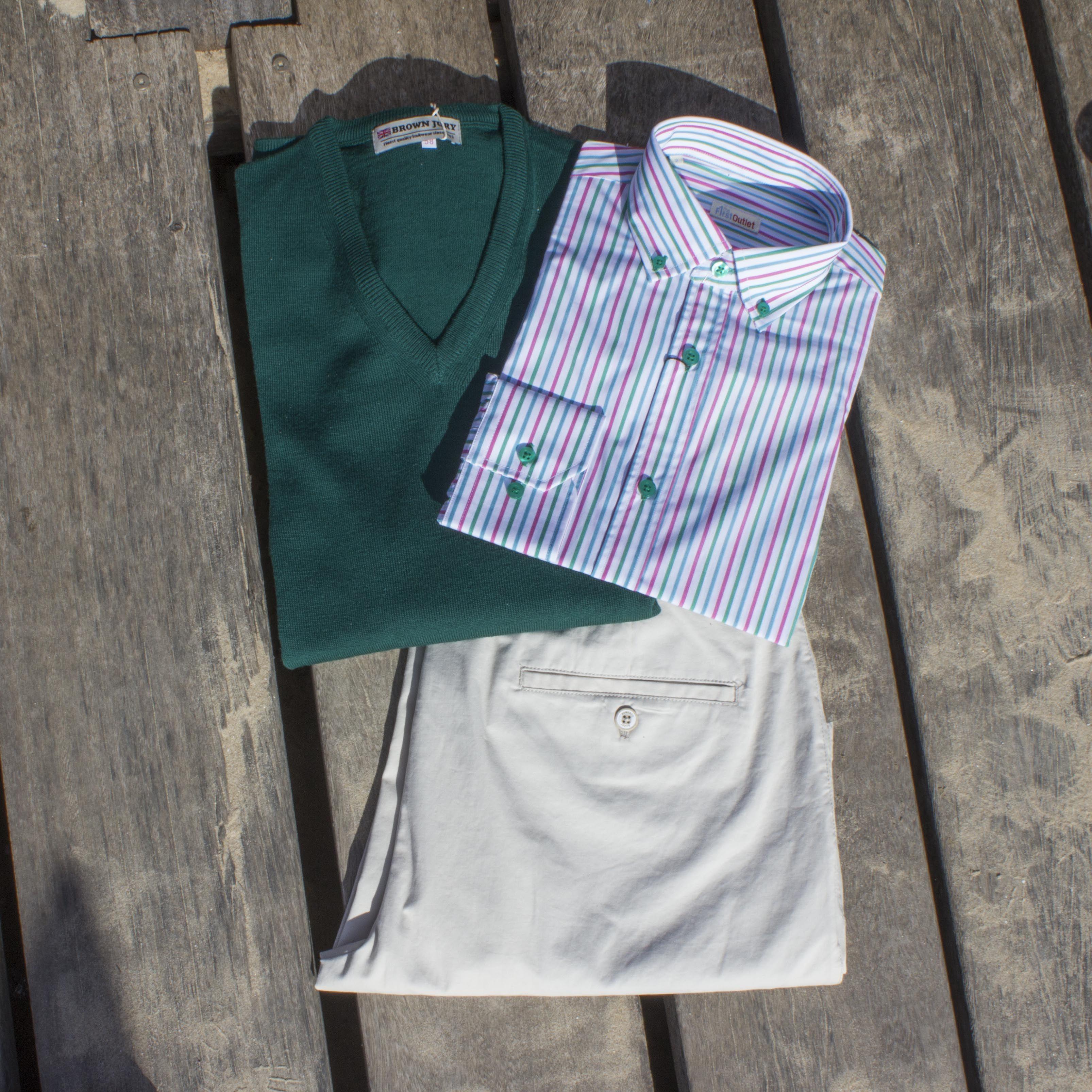 Look de Hombre con camisa de rayas, Colección Primavera
