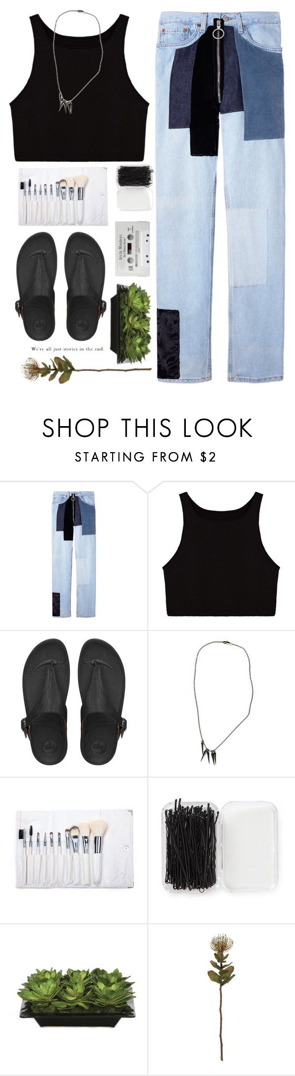 """""""*I'm not made out of steel*"""" by my-black-wings ❤ liked on Polyvore featuring FitFlop, Chris Habana, Forever 21, Lux-Art Silks and Crate and Barrel"""