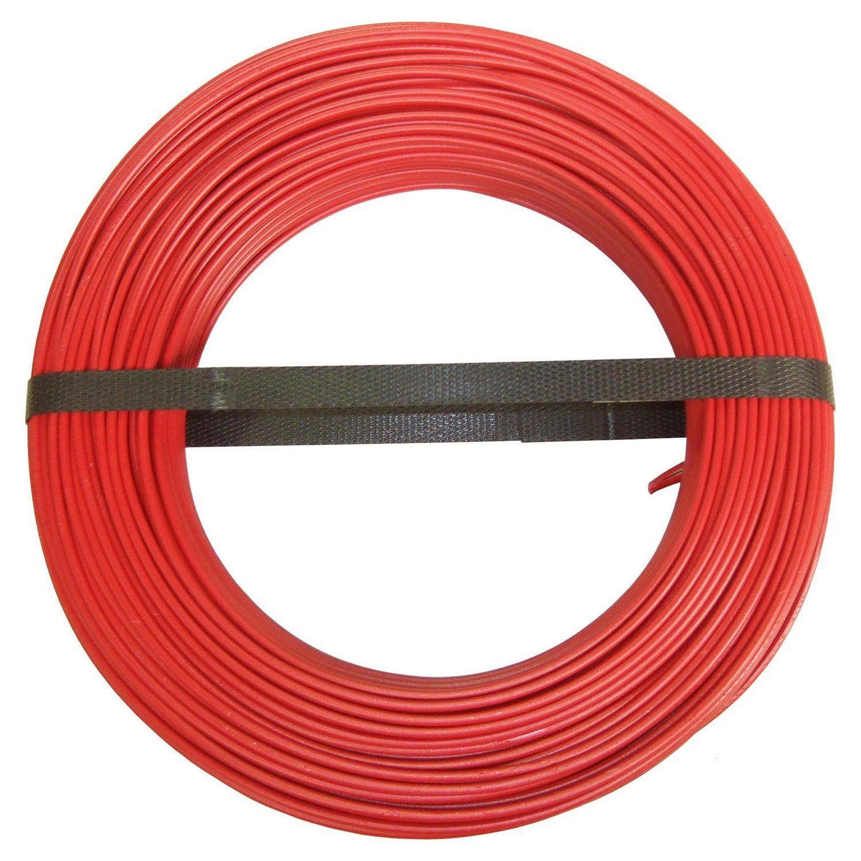 Fil Electrique 1 5 Mm H07vu En Couronne De 100m Rouge Fil Electrique Electrique Et Courant Alternatif