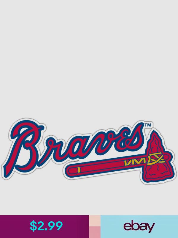 Statement Stickers Decals Collectibles Window Stickers Atlanta Braves Crafty Gifts