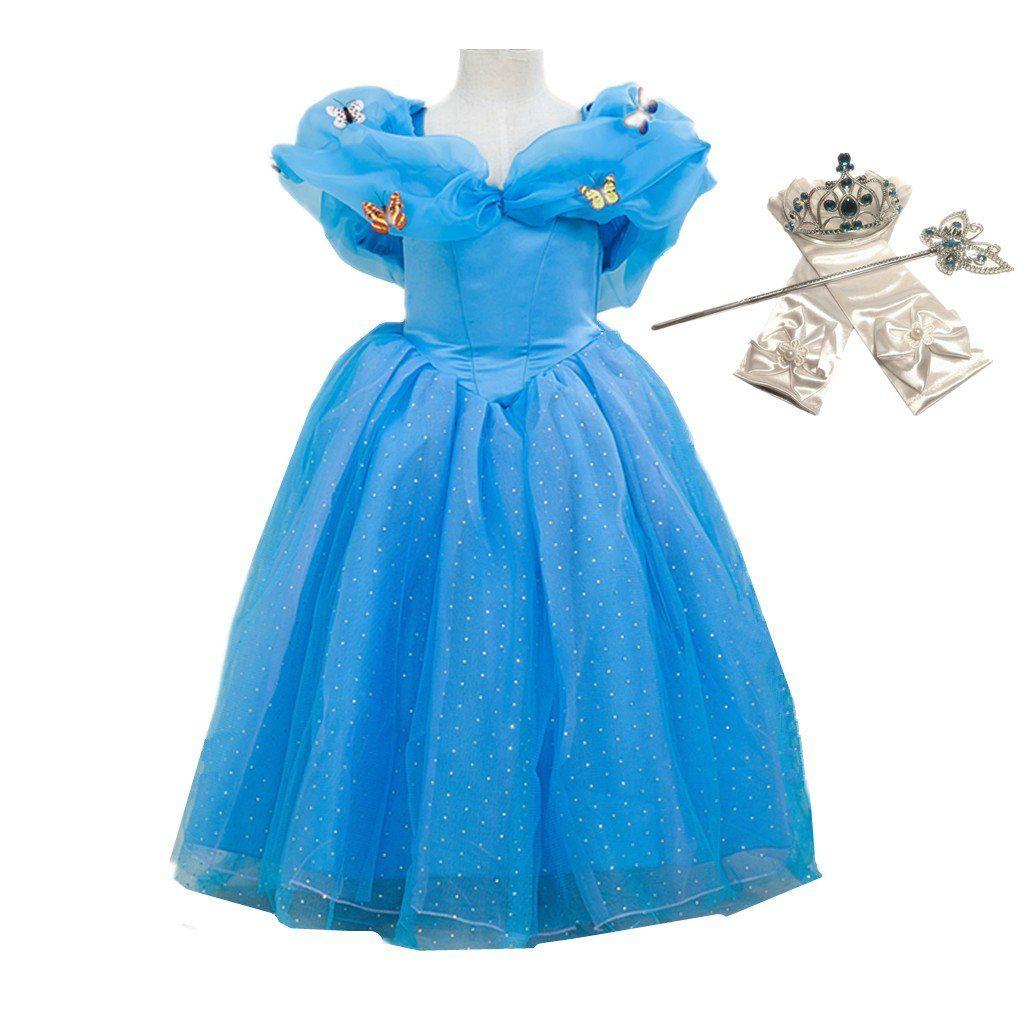DreamHigh Princess Cinderella Princess Butterfly Costume Dress With