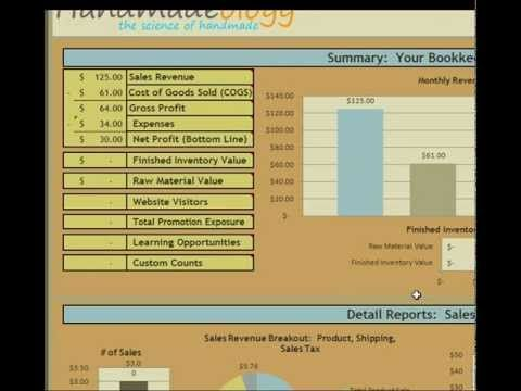 Learn how you can track your cost of goods sold with Handmade Bookkeeping Complete.