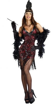 a629892769 Sexy adult female Halloween flapper dame sequins costume UpscaleCostumes.com