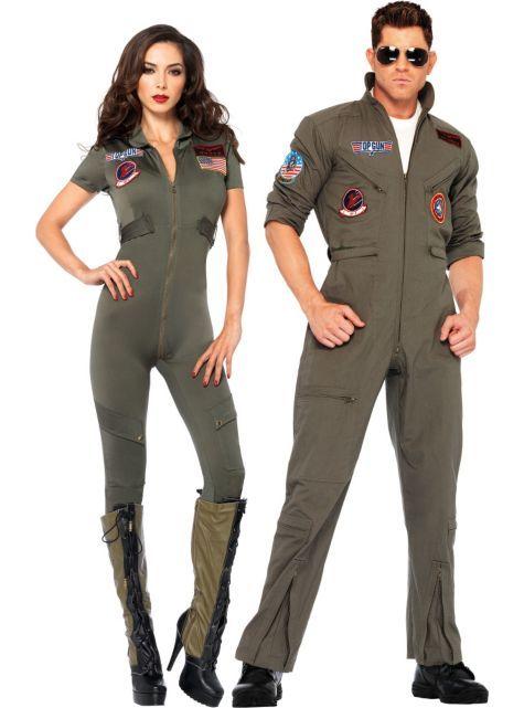 181b49d9412 Top Gun  Women s Flight Suit Costume ( 54.99)   Men s Flight Suit Costume  ( 69.99) - Party City