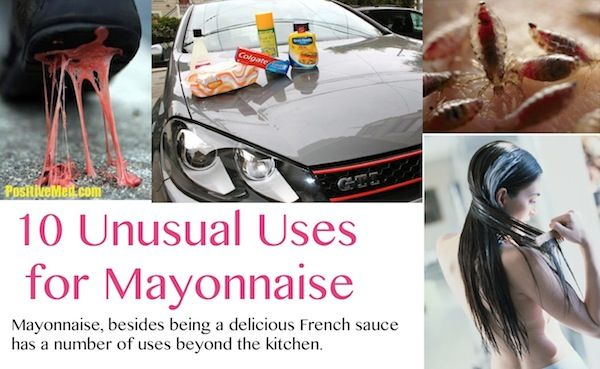 10 Unusual Uses for Mayonnaise #gumremoval