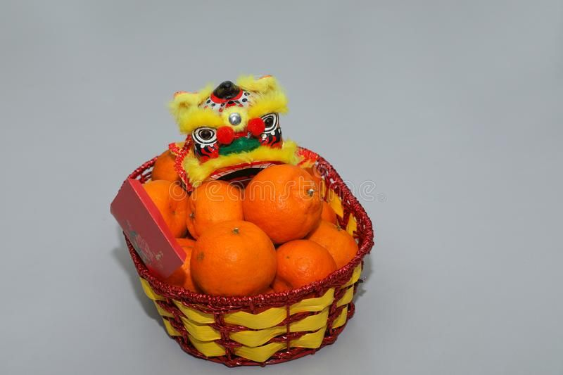 Chinese New Year Mandarin Oranges In Basket Decorate With Chinese Dragon Spring Spon Oranges Basket Ma Chinese New Year Fruits Basket Mandarin Orange