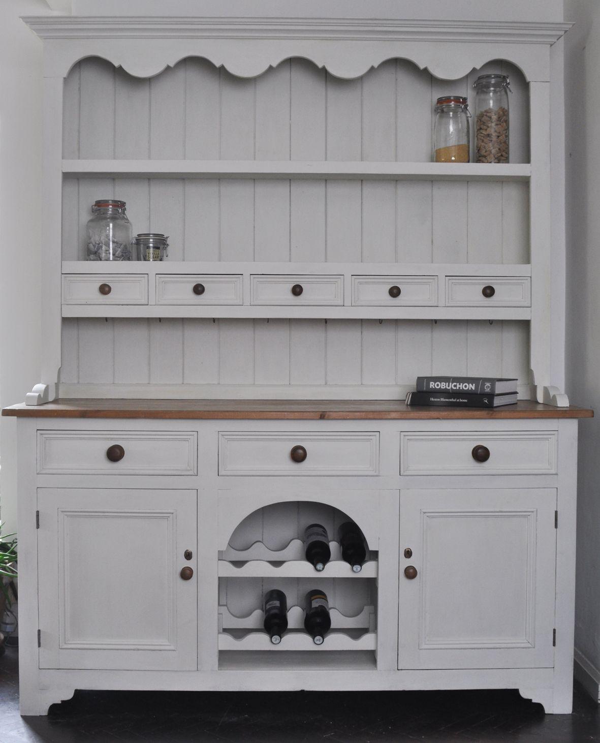 Welsh Dresser handpainted in Annie Sloan 'Old White' chalk ...