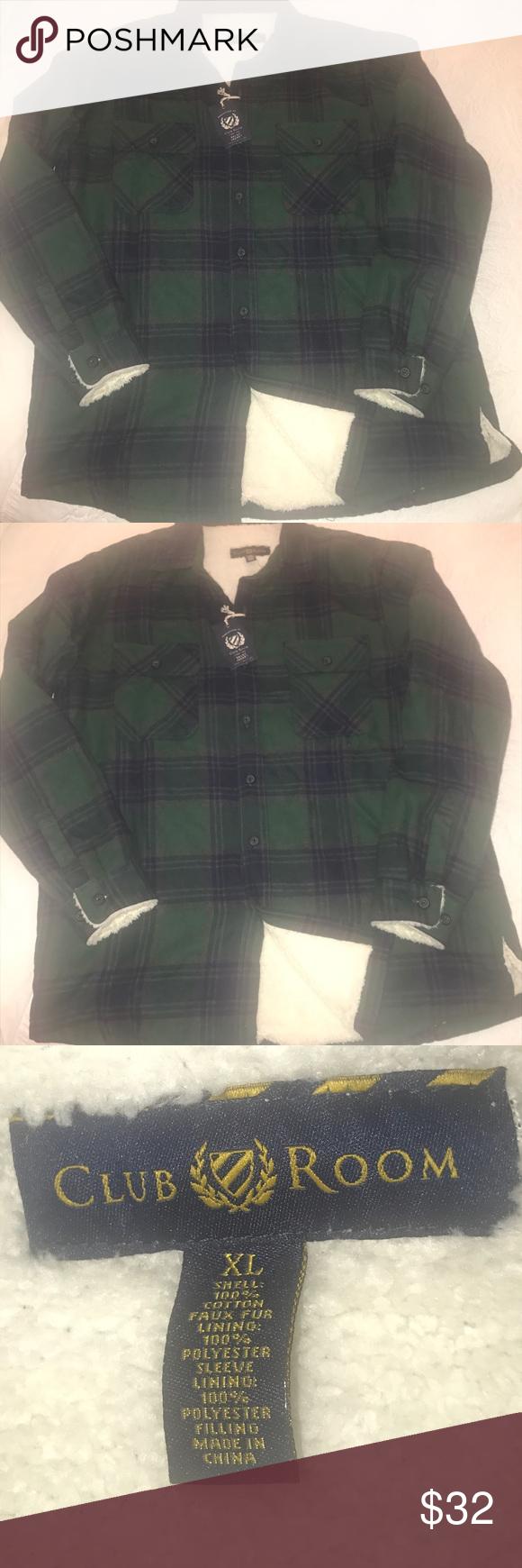 Flannel jacket with wool lining  Plaid flannel shirt jacket NWT  My Posh Picks  Pinterest  Shirt