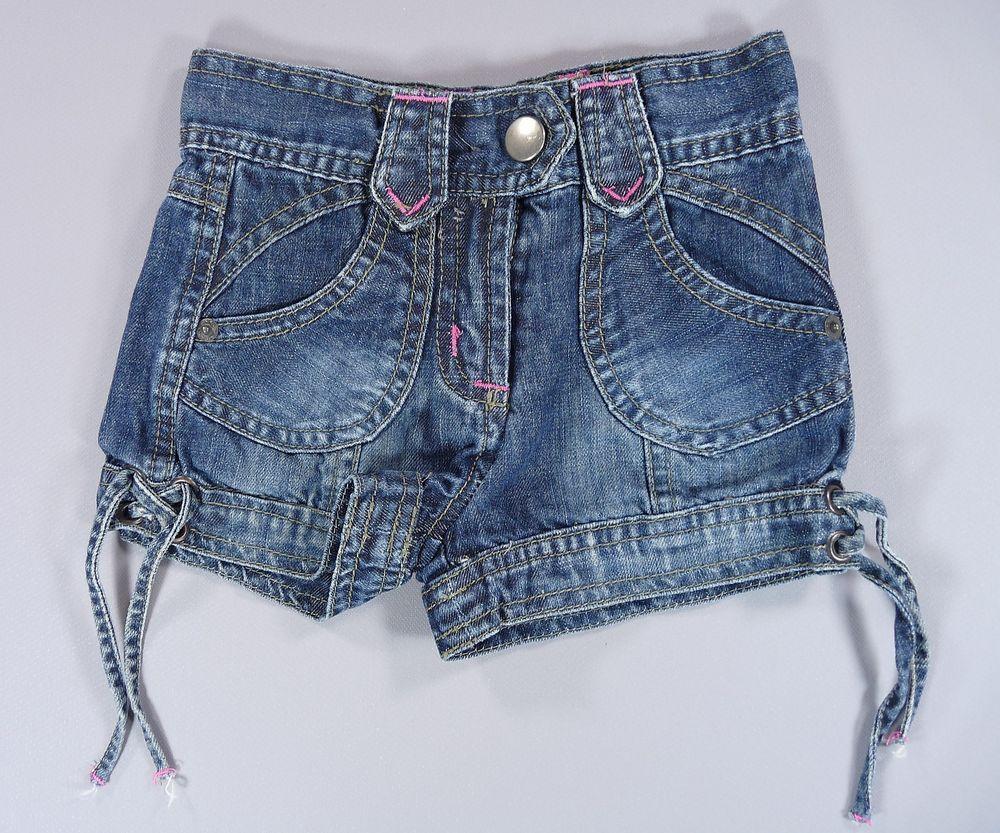 Short jean denim bleu effet usé Tape à l Oeil 3 ans filles