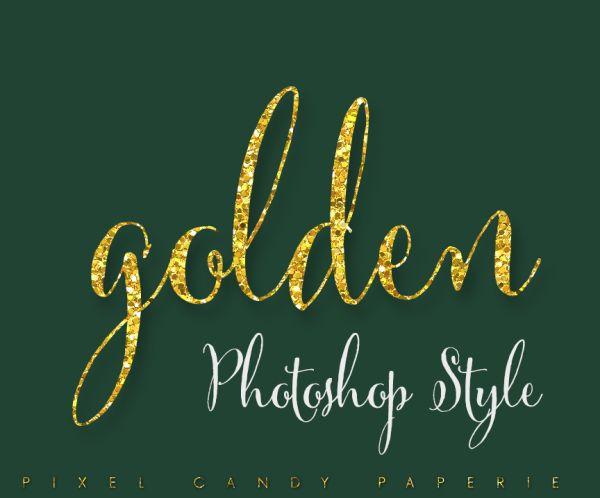 d4c1f92741e8 gold glitter sparkle logo style | Photoshop | Design, Layer style ...