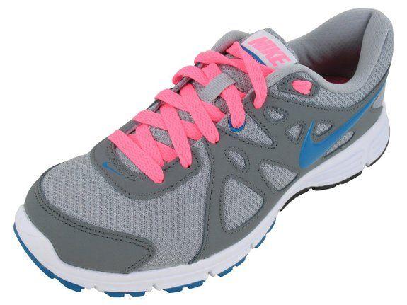 d3b58199fd32a Nike Revolution 2 Womens Style: 554900-006 Size: 8.5 Wlf Grey/N Trq-Cl  Gry-Dgtl Pink