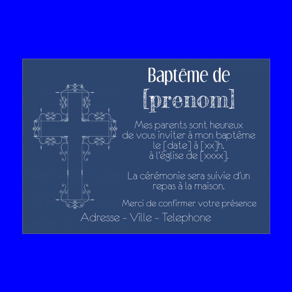 Faire Part De Bapteme A Imprimer Gratuit Croix Bleu Faire Part Bapteme Faire Part Bapteme Garcon Bapteme