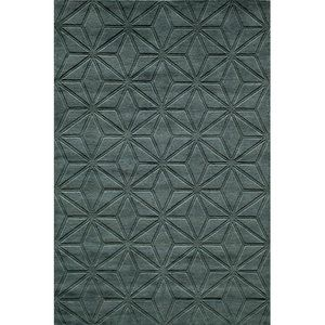 Momeni Gramercy Wool Hand Loomed Blue Area Rug 7'6