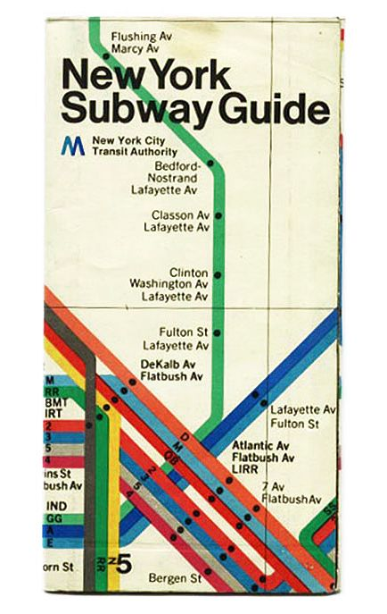 New York City Subway Map In The 1970s.Vignelli S Map Condensed Into A Pamphlet Cover Avt 311 Project 2