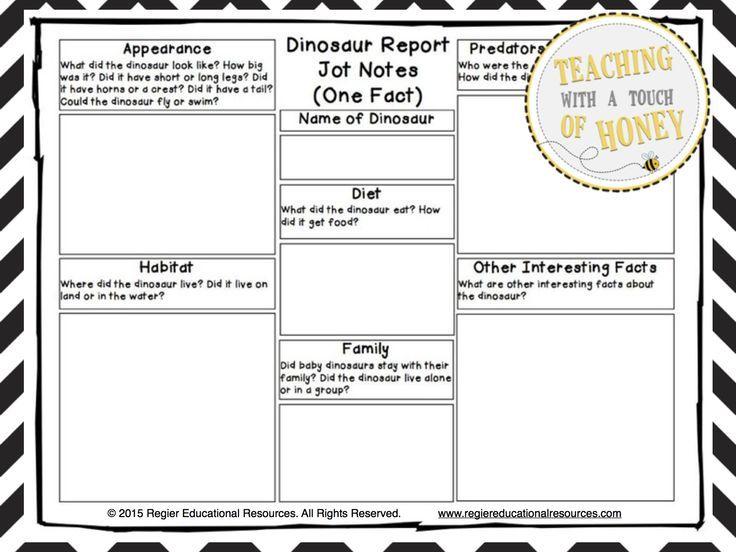 Dinosaur Report Tiered Report Writing Templates – Templates for Report Writing