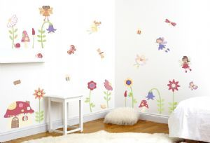 Enchanted Fairy Garden Wall Stickers, Enchanted Garden Room Decor Kit, kids wall stickers from Funky Monkey Bedrooms