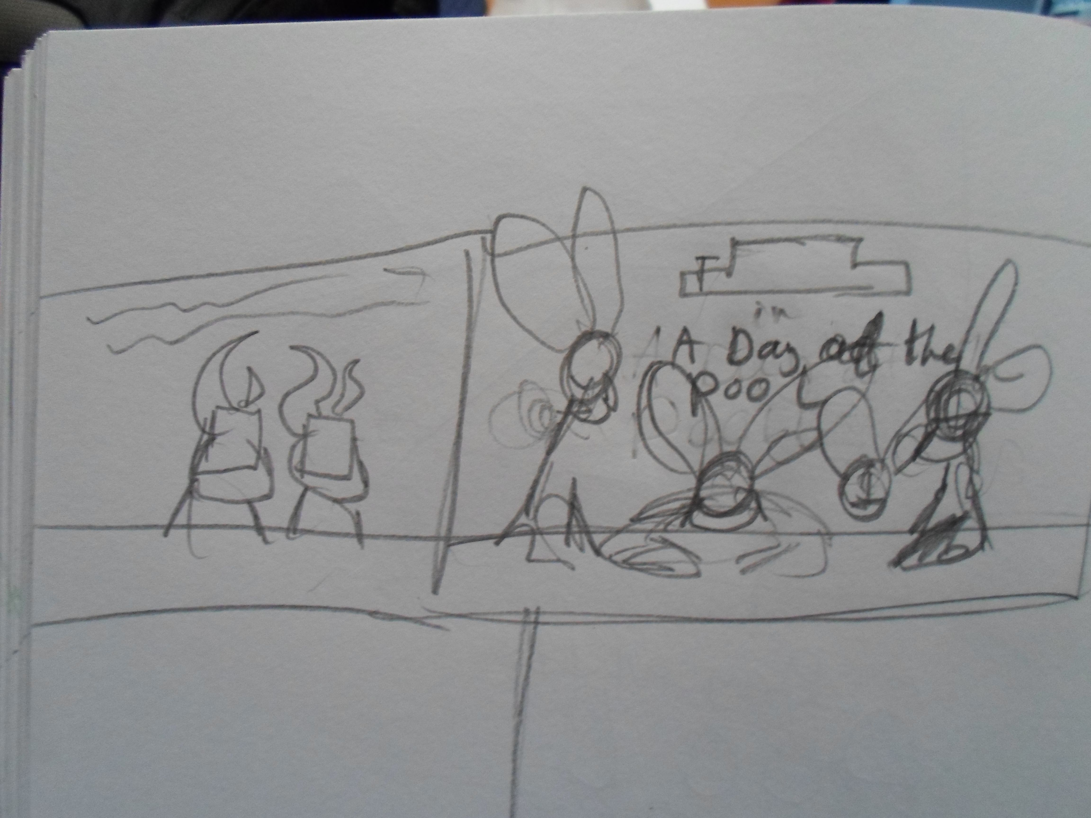 One of the beginning sketches of the project.