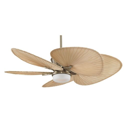 Palm Coast Harbour Island 52 In Tropical Bronze Indoor: Natural Palm Blades Ceiling Fan