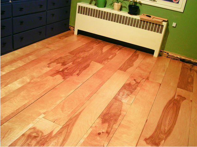 Perfect For When We Rent Our House Cheap And Effective Plywood Flooring
