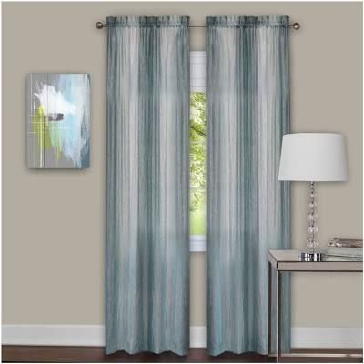 Blue Gray Ombre Curtains