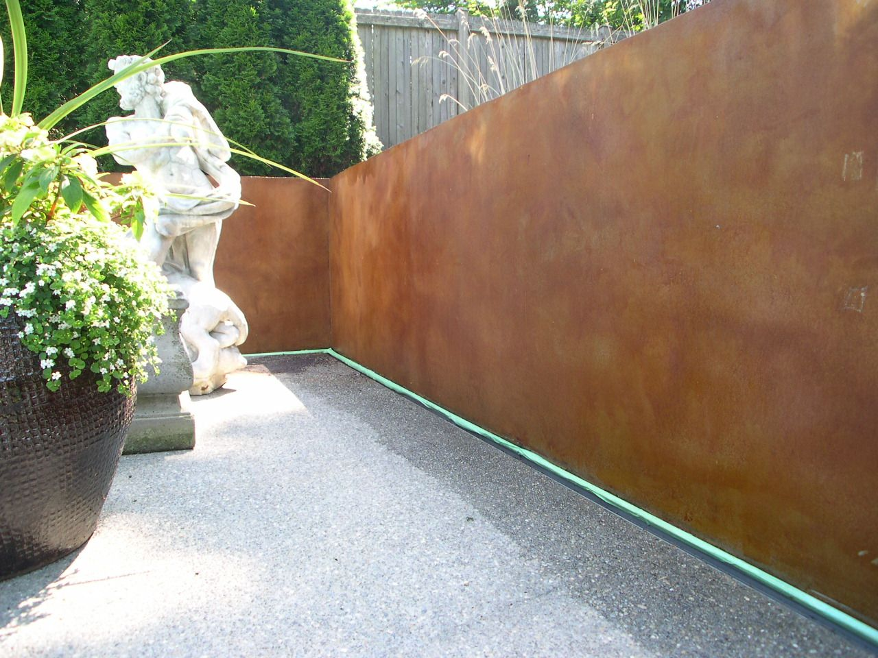 Ideas For Outdoor Concrete Walls Exterior Stained Concrete For Outdoor Living Environments