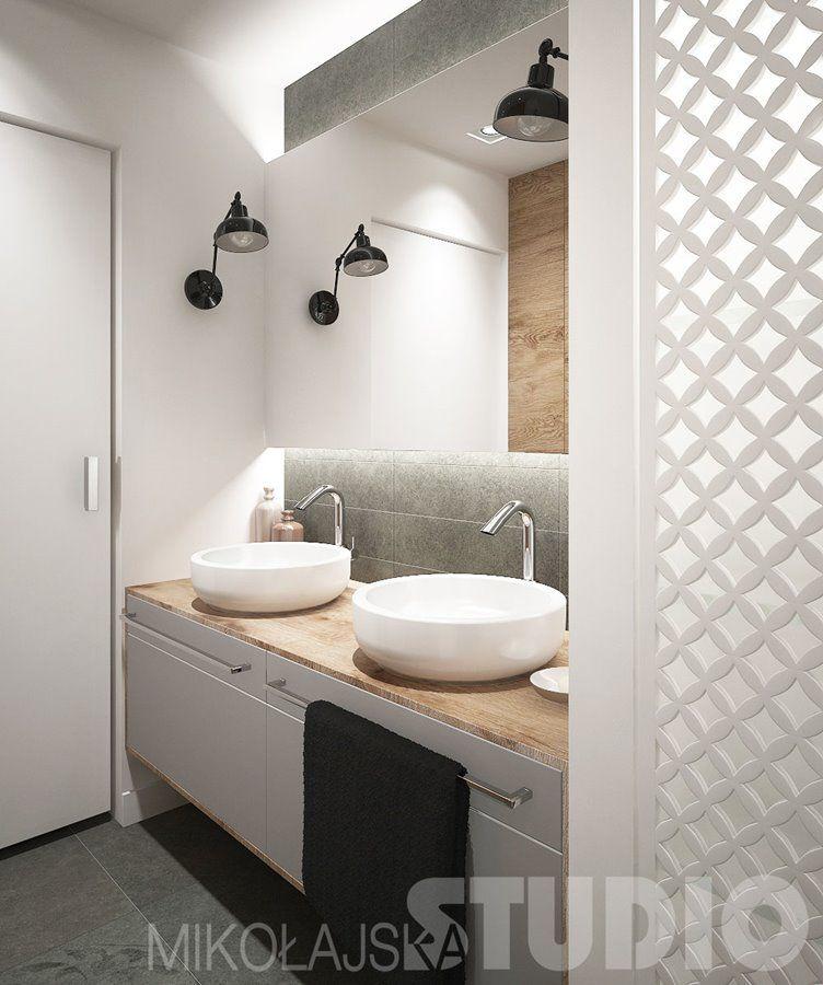 Industrialna łazienka Z Wanną I Prysznicem Inspiracja