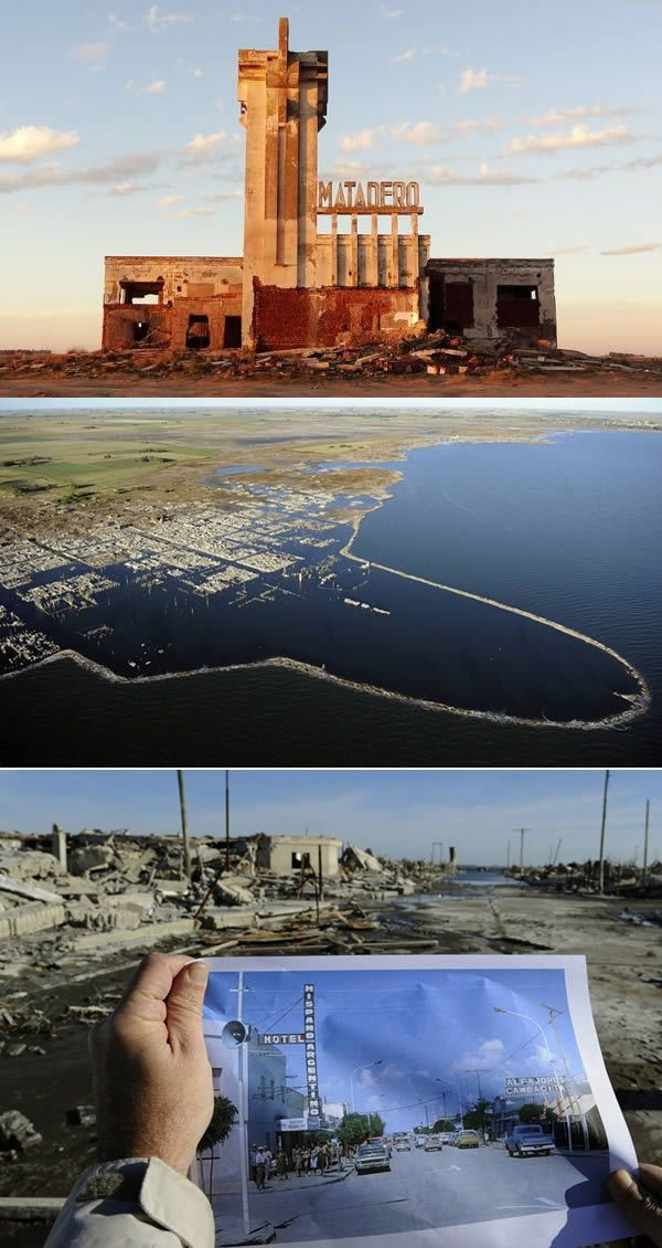 8 lugares incríveis que emergiram da água A cidade argentina que ressurgiu depois de ficar submersa por 30 anos