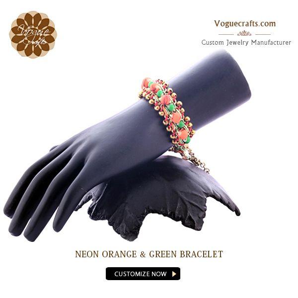 This stunning bracelet with vibrant neon hues features a futuristic blend of colors and contrast  #Fashion #Jewelry #JewelryForWomen #Manufacturer #Suppliers