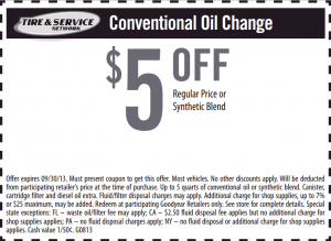 5 Off A Goodyear Oil Change Click Through To Get The Most Recent