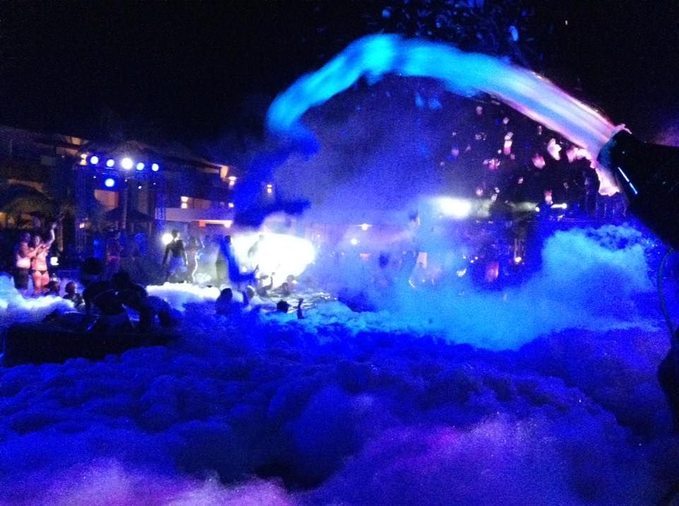 A Great Shot Of Our Nighttime Foam Pool Party At Breathless Punta