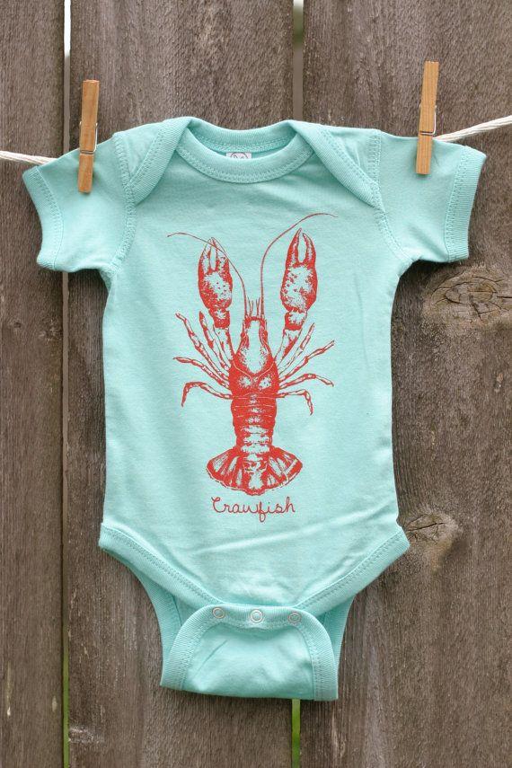 Crawfish Baby Onesie Infant Bodysuit Nola Gift