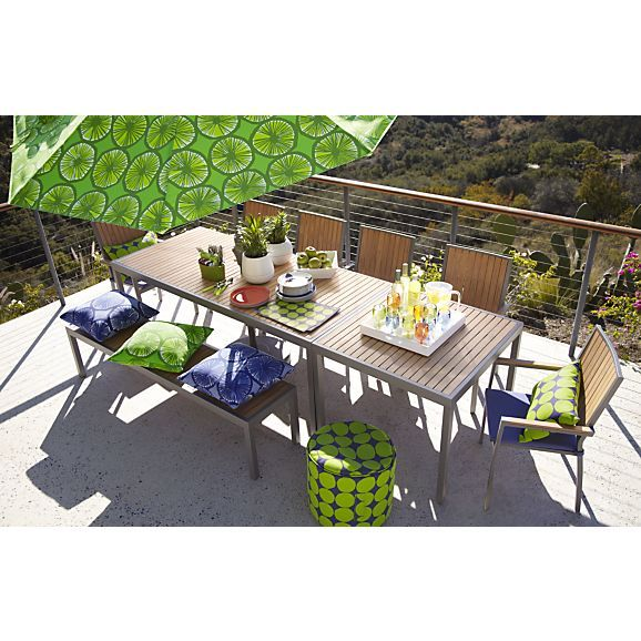 Alfresco Natural Rectangular Dining Table In Outdoor Dining