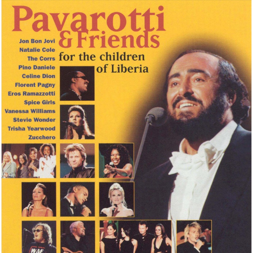 Pavarotti Friends For The Children Of Liberia Jon Bon Jovi