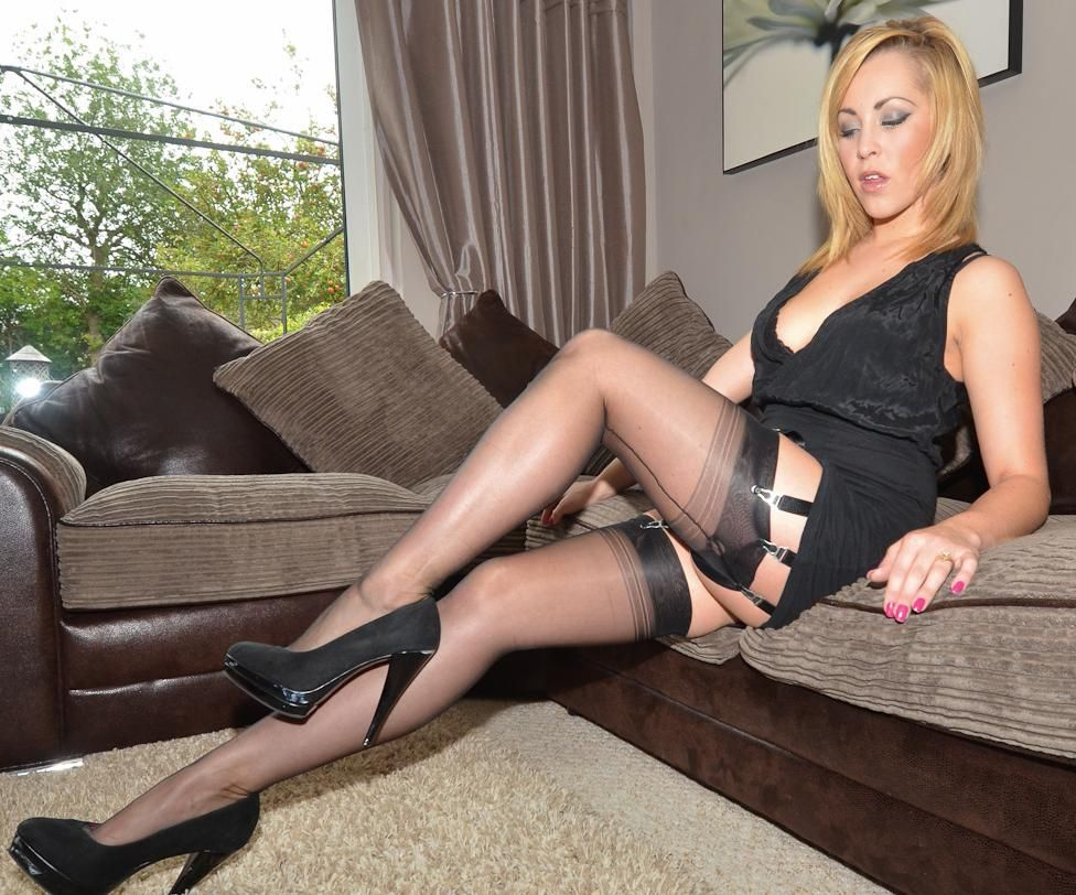 Blonde milf ready to go to work