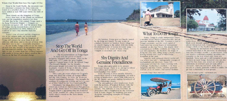 Tonga Travel Brochure  Travel Brochure    Travel