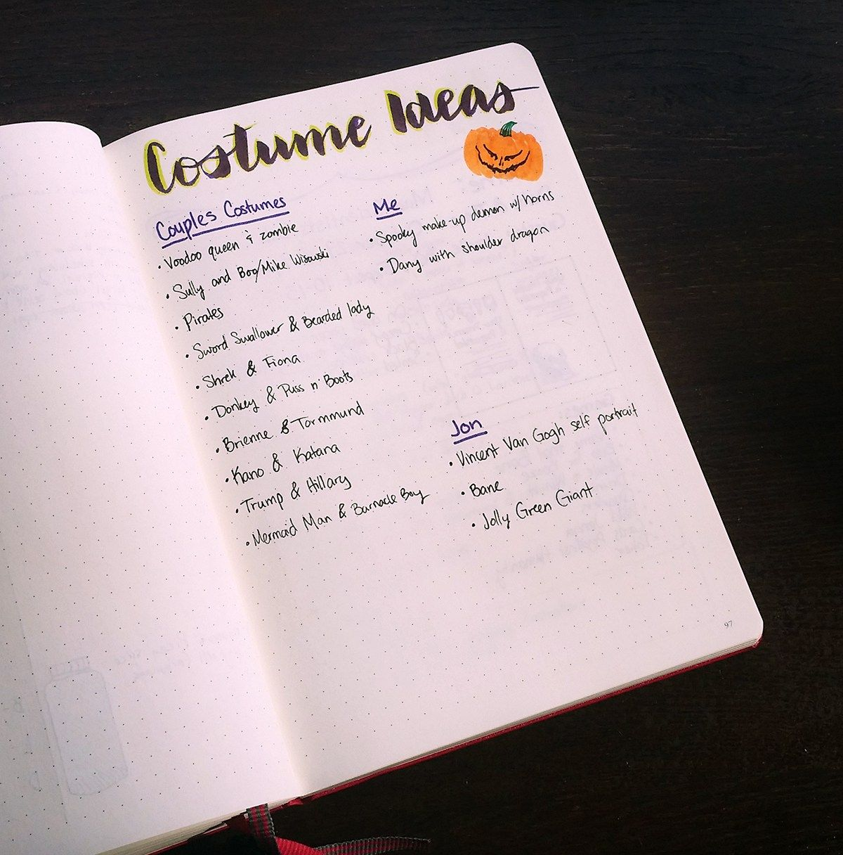 Bullet Journal Party Planner - Let's Do Halloween | Party planners ...