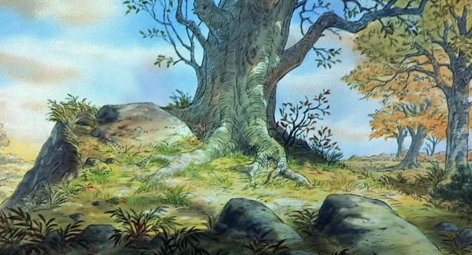 Winnie The Pooh Forest Background: The Many Adventures Of Winnie The Pooh. Animation Backgrounds