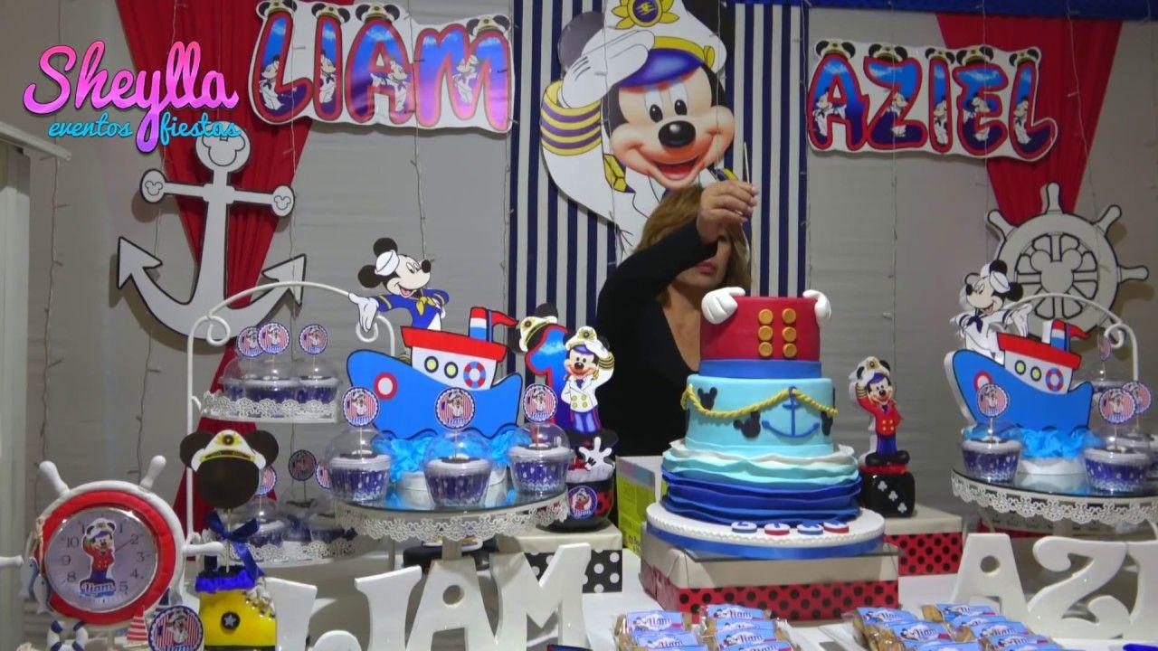 Mickey Marinero Decoración De Cumpleaños Mesa Temática De Dulces Tort Decoración De Fiestas Infantiles Decoraciones De Mickey Mouse Fiesta Infantil Tematica