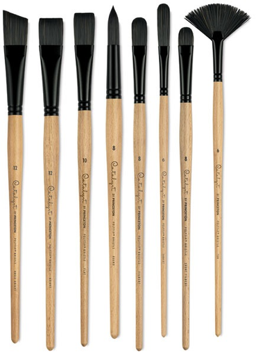 Princeton Art Brush Co These Synthetic Bristle Brushes Have Individual Hairs That Have Been Split To Replicate The Natural Fl Farbe Und Lack Pinsel Painting