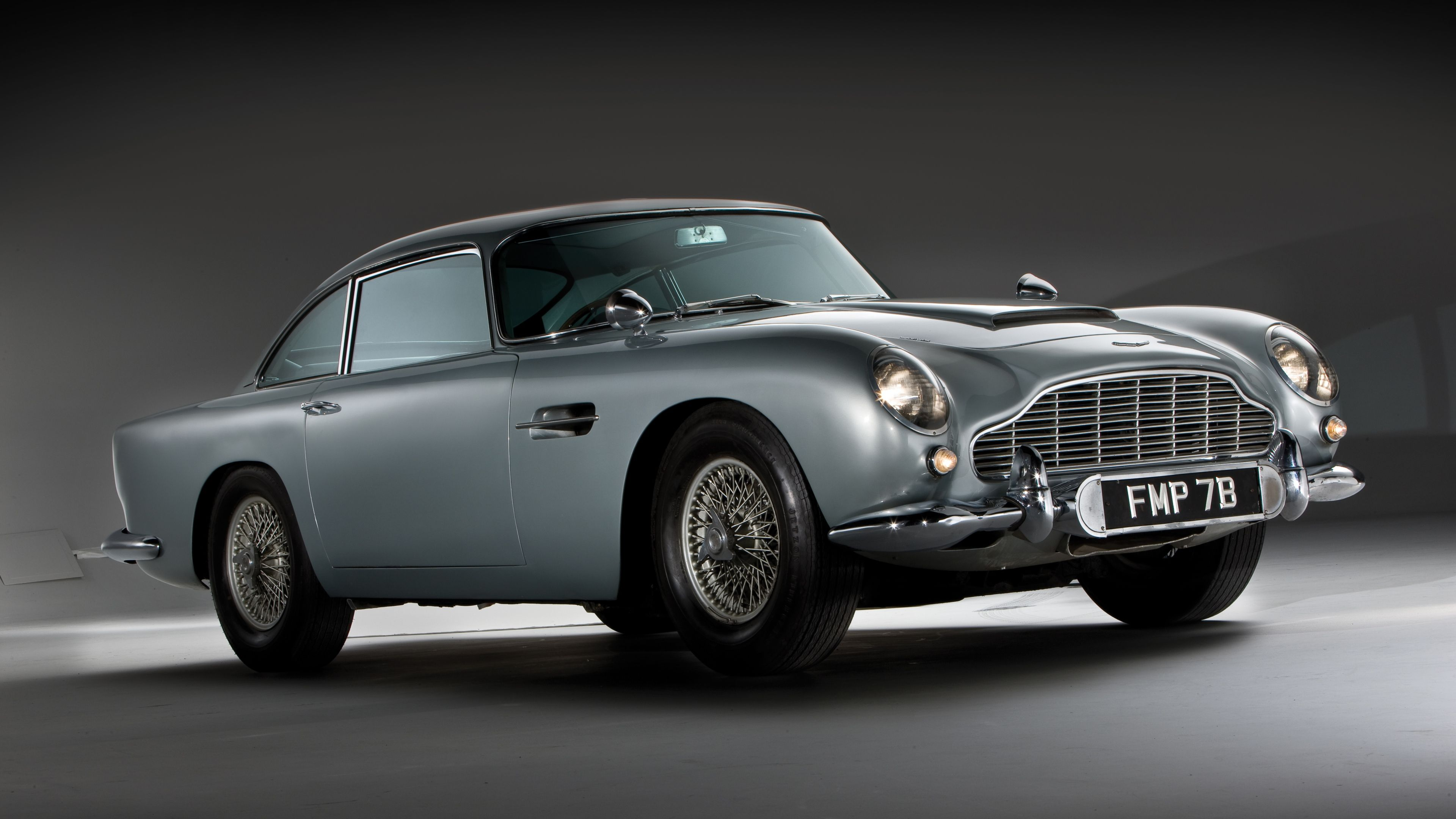 3840x2160 Wallpaper aston martin, db5, 1964, side view