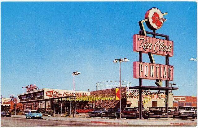 Ken Clark Pontiac Car Dealership Pontiac Vintage Cars