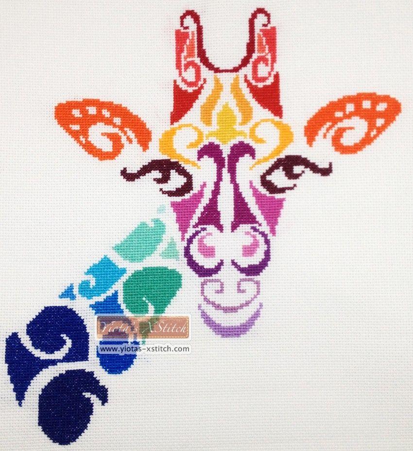 c11cbe994affa Tribal giraffe cross stitch kit … | DIY projects to try | Cross ...