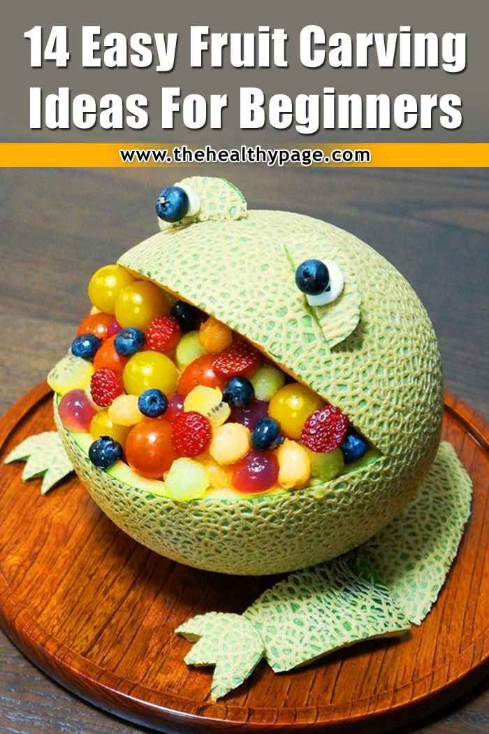 14 Easy Fruit Carving Ideas for Beginners (With images ...