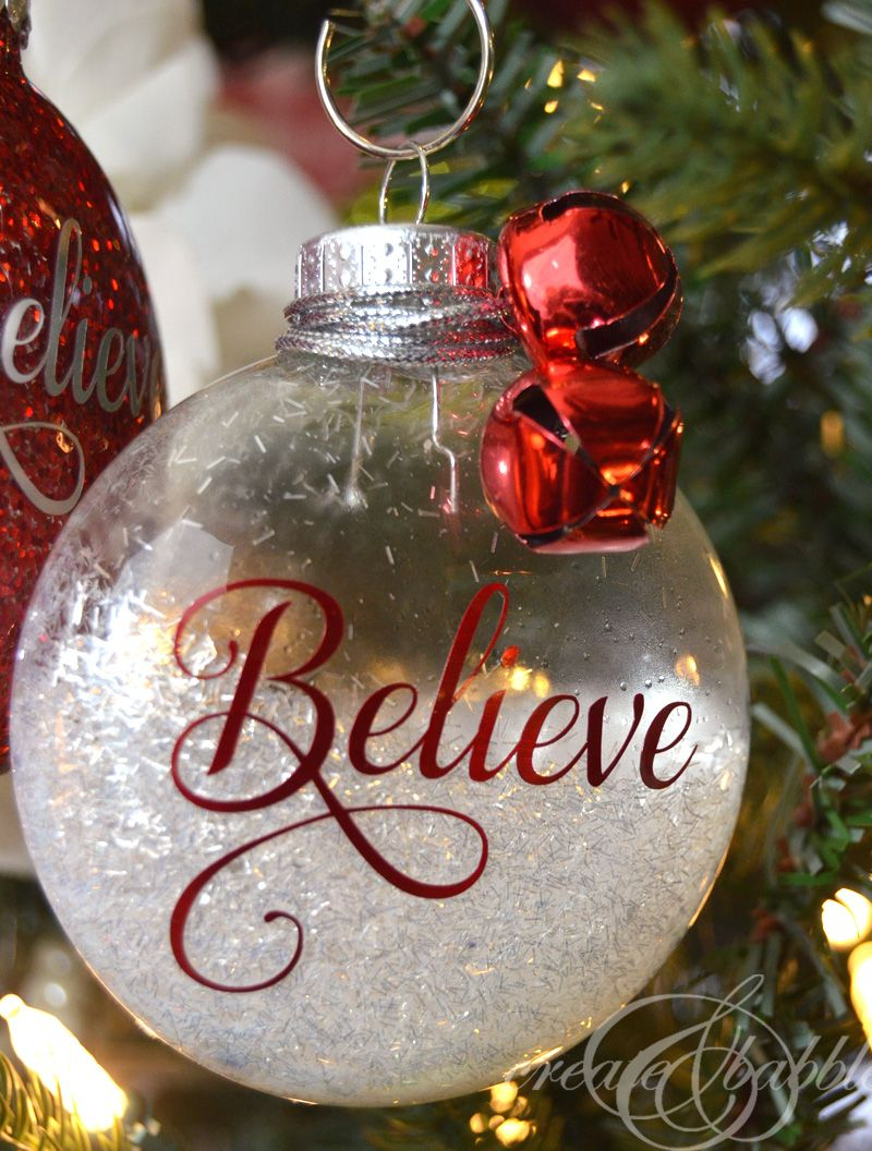 DIY Glitter Christmas Ornaments Clear christmas
