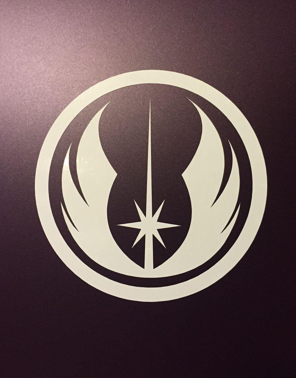 1 2 Jedi Order Logo Vinyl Decal Sticker Star Wars White Silver Black 1 2 3 4 Ebay Home Garden Vinyl Decals Vinyl Decal Stickers Jedi Order
